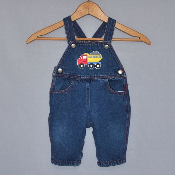 Vintage baby Guess Denim Overalls Size 6 Months